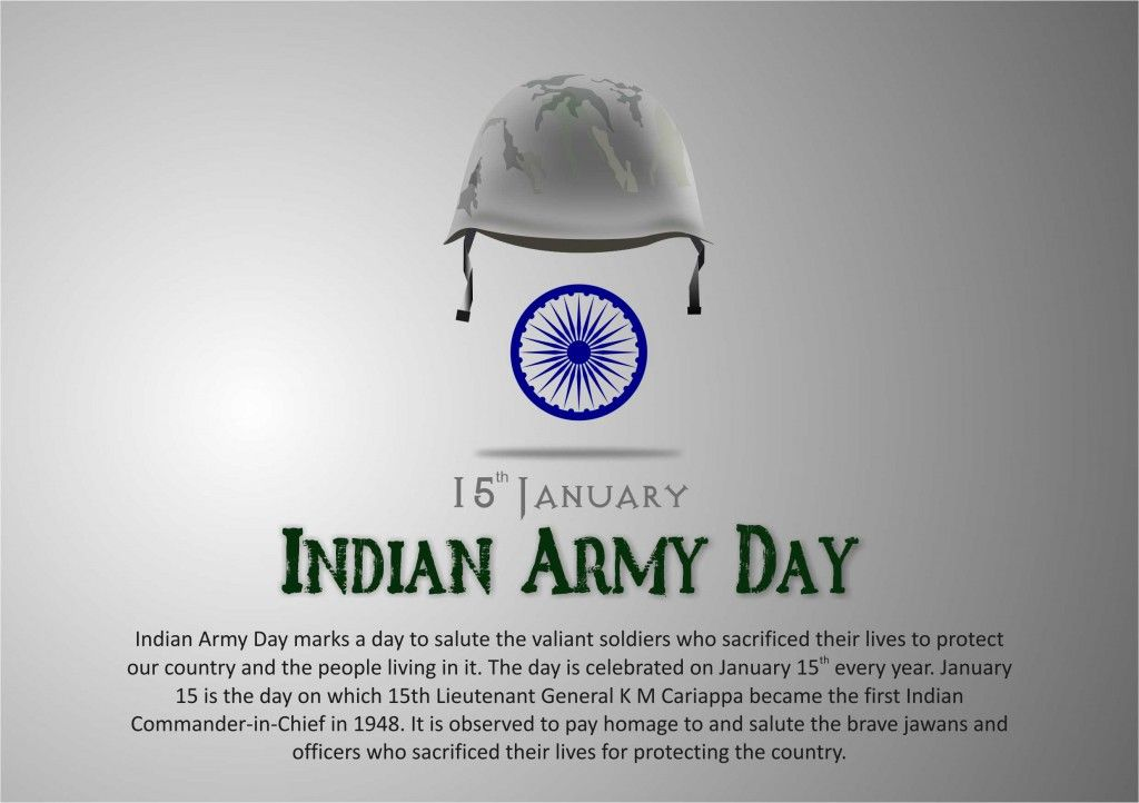 Indian Army Day, january 15th