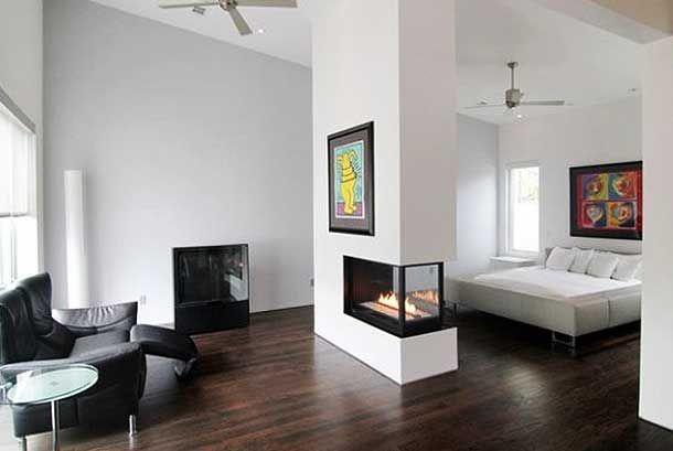 chimeneas-modernas-como-separador-de-espacios decoracion edwin - chimeneas modernas