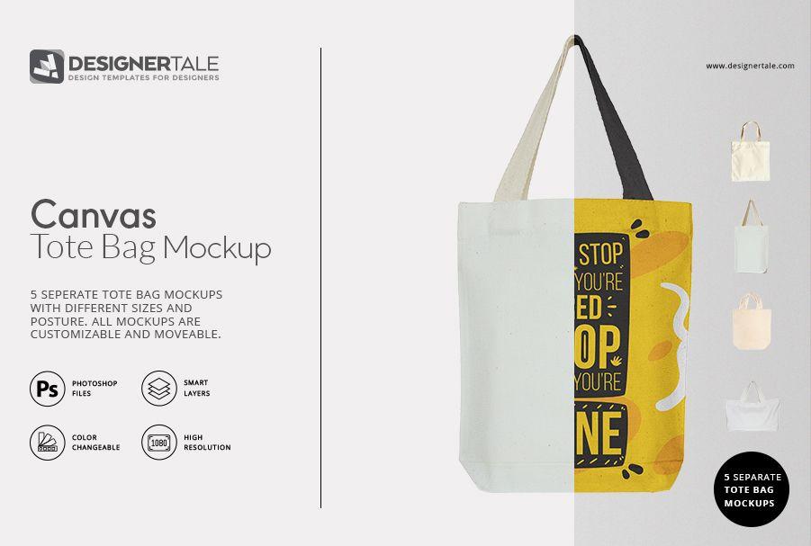 Download Tote Bag Mockup Set Designertale Bag Mockup Tote Bag Bags