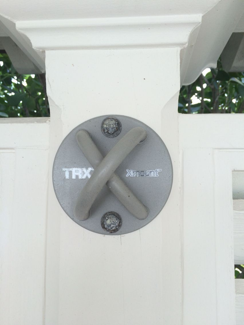 TRX wall mount for home gym