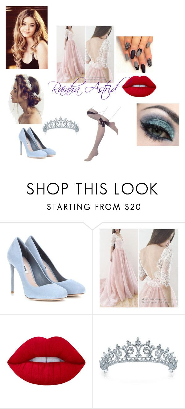 """""""Astrid"""" by gazinhavieira ❤ liked on Polyvore featuring Miu Miu, Lime Crime, Bling Jewelry and Disney"""