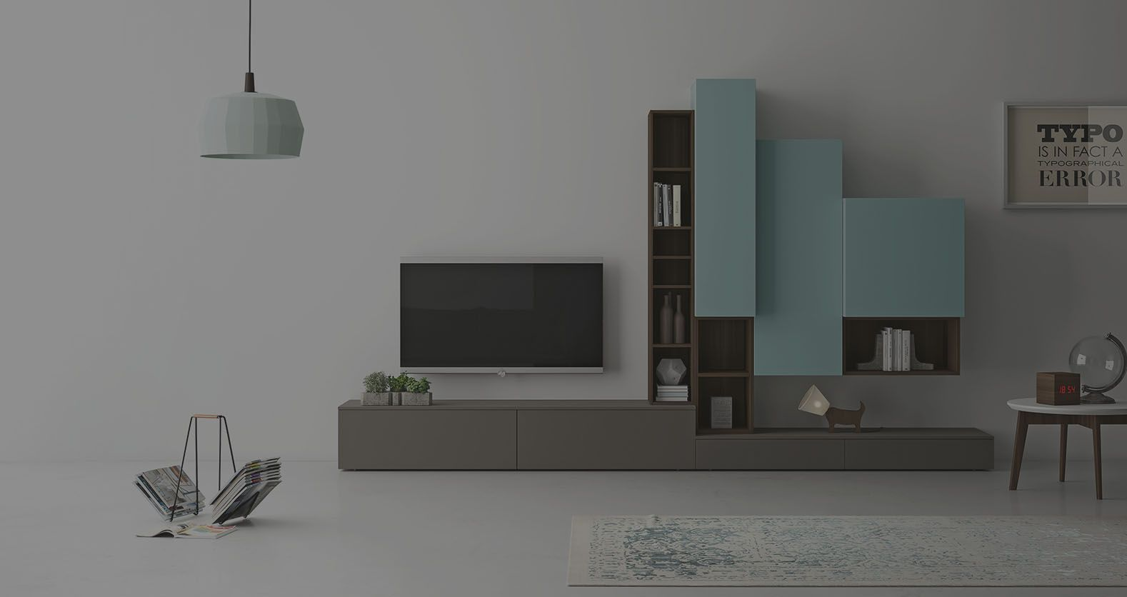 Meuble Composable De Sejour Slim Meuble Mobilier De Salon Meuble Tv