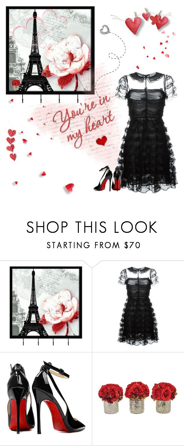 """""""Say you'll remember me"""" by babooptgmi ❤ liked on Polyvore featuring Universal Lighting and Decor, RED Valentino, Posh Girl, women's clothing, women, female, woman, misses and juniors"""