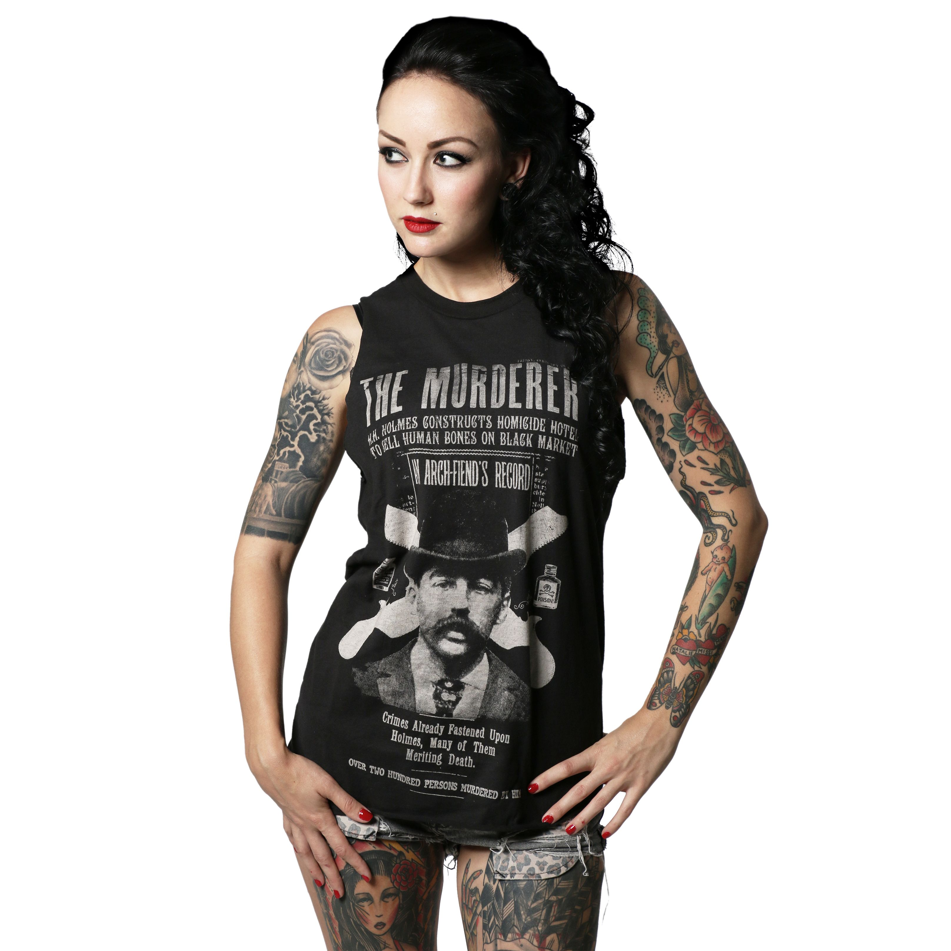 bf5db459 H.H.Holmes Murderer Muscle Tee in 2019   moda got'ico   Muscle tees ...