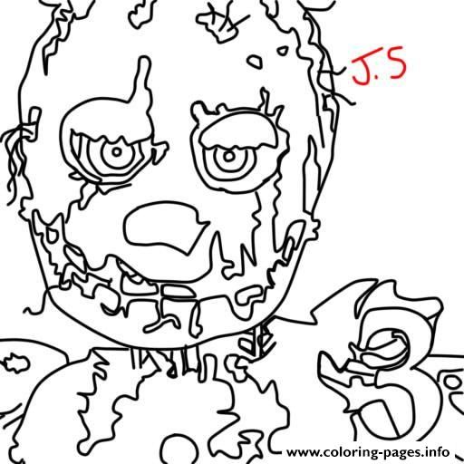 Print Five Nights At Freddys Fnaf Golden Freddy Coloring Pages