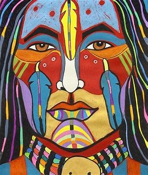 Image result for Red and Black Art of Native American Indians #nativeamericanindians