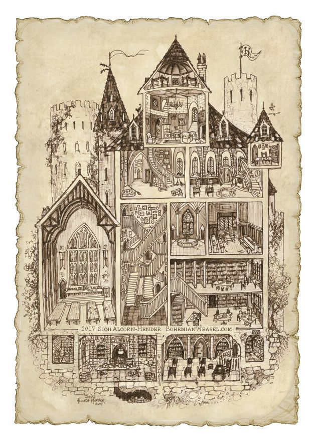 hogwarts school harry potter sepia diagram illustration harry potter harry potter h user. Black Bedroom Furniture Sets. Home Design Ideas