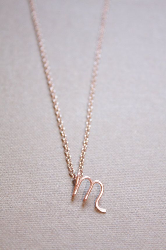 Lettre M Collier Argent Or Rose Or Collier Initiale Lettre