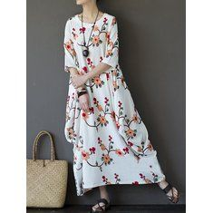 Stylish Gracila Bohemian Chiffon Floral Print Elastic Waist Maxi Skirt For Women - NewChic Mobile.