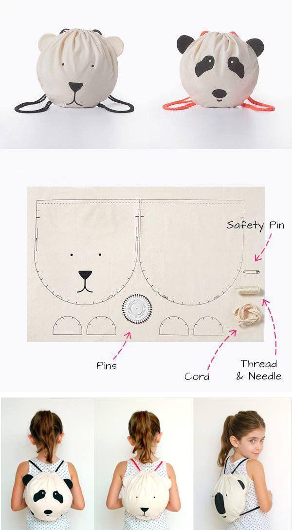 Bolso oso   Sewing   Costura, Patrones, Bolsos