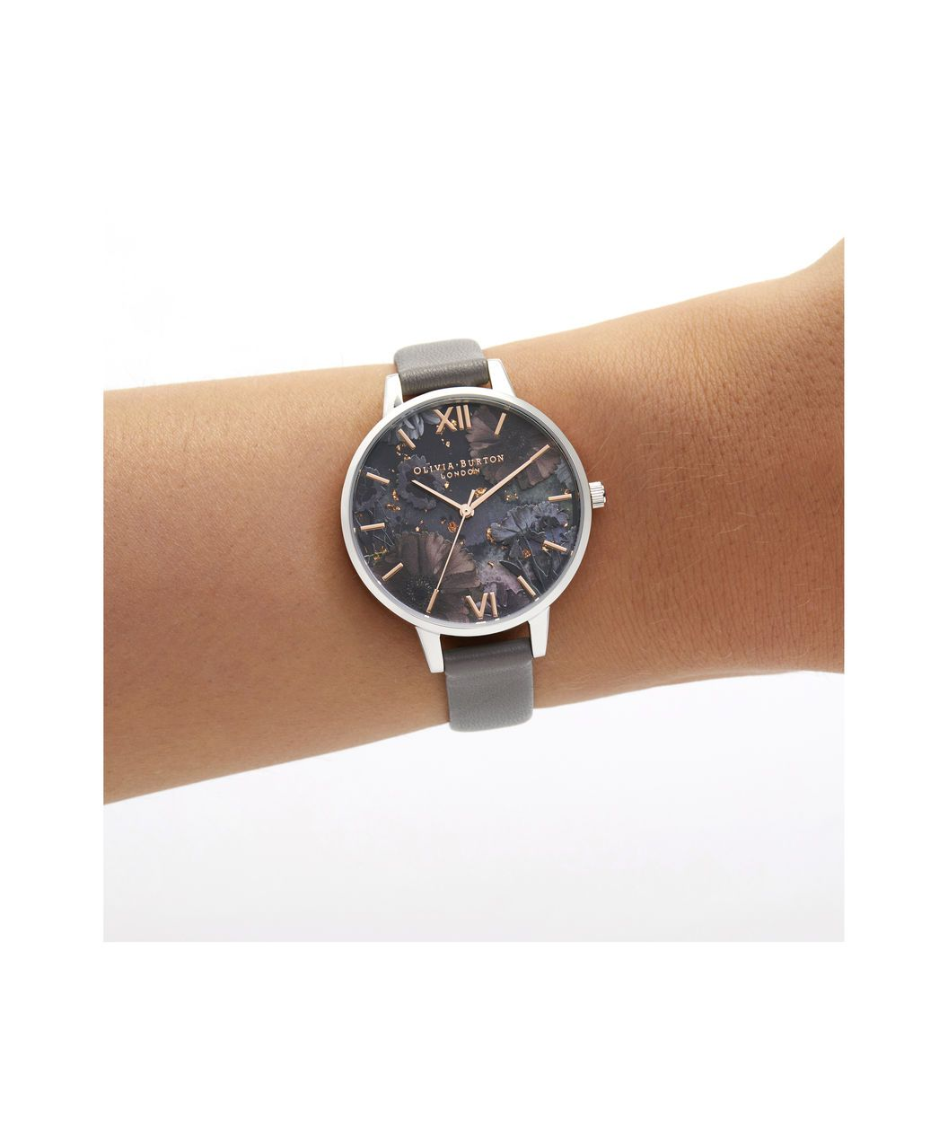 d501ec219 OLIVIA BURTON LONDON Celestial Demi Dial WatchOB16GD26 – Demi Dial in grey  and Silver & Rose Gold - Other view