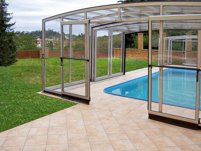High Inground Pool Enclosure Vision By Ipc Team Pool Enclosures Pool Remodel Inground Pools