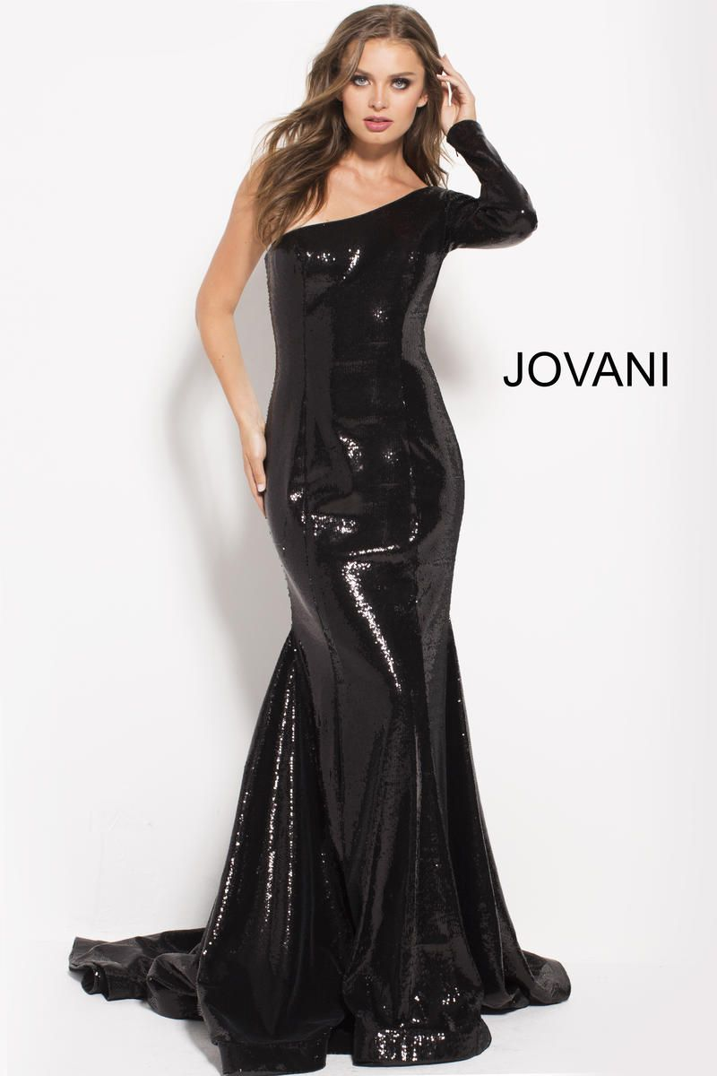 Jovani 51650 One Long Sleeve Sequin Gown | Rockstar Studs, Stones ...