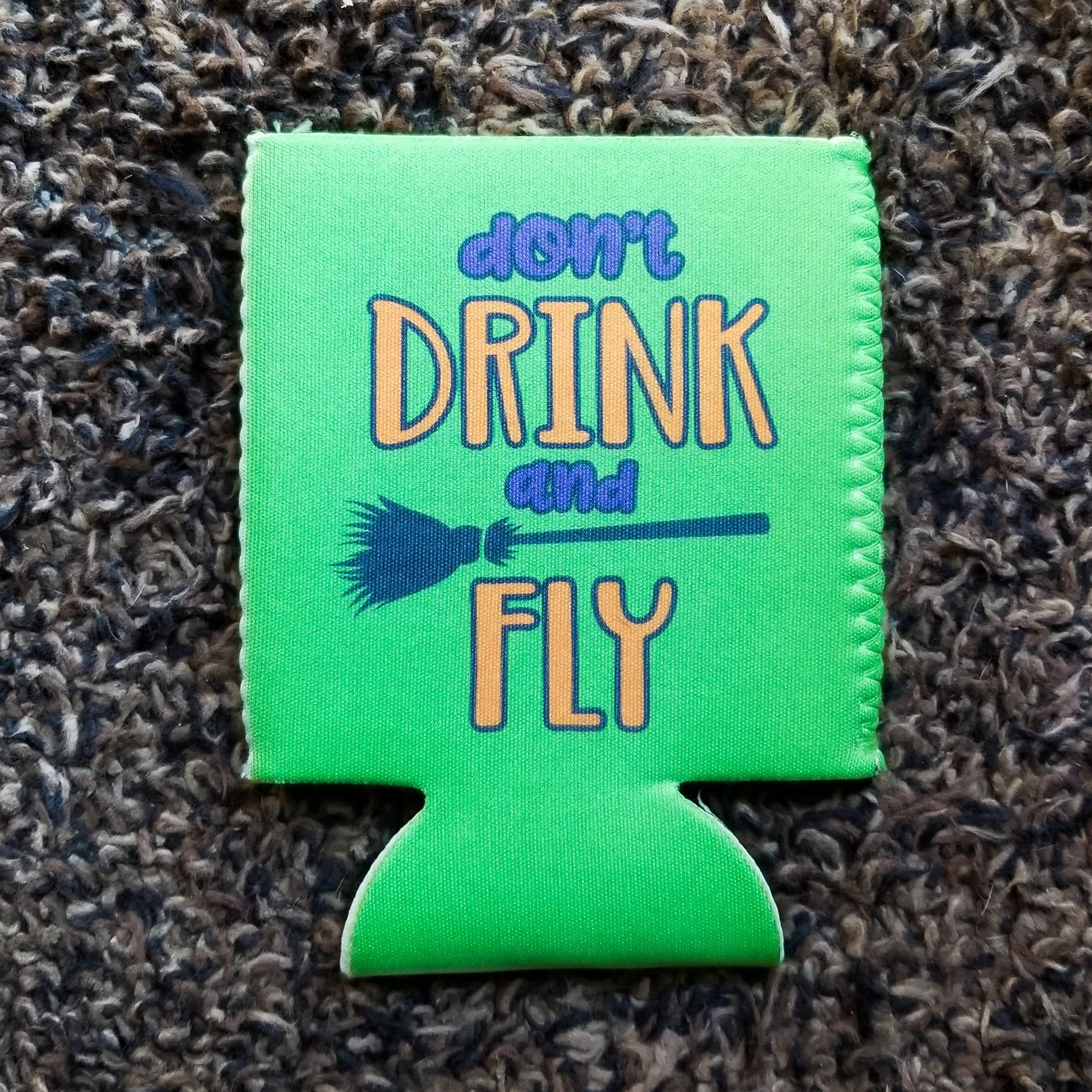 Don T Drink And Fly Witch Can Coolers Witch Can Cooler Halloween Party Favor Halloween Drink Holder Halloween Party Favors Halloween Drinks Halloween Koozie