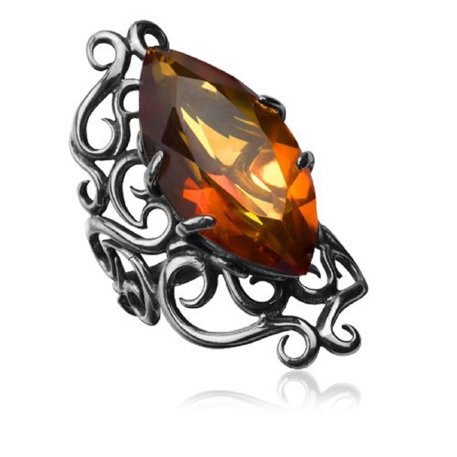 Amber Sterling Silver Faceted Collection