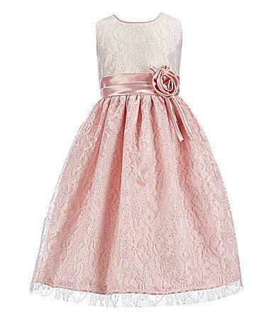 b8d4b34bbbb Jayne Copeland Little Girls 2T6X Lace Colorblocked Gown  Dillards ...