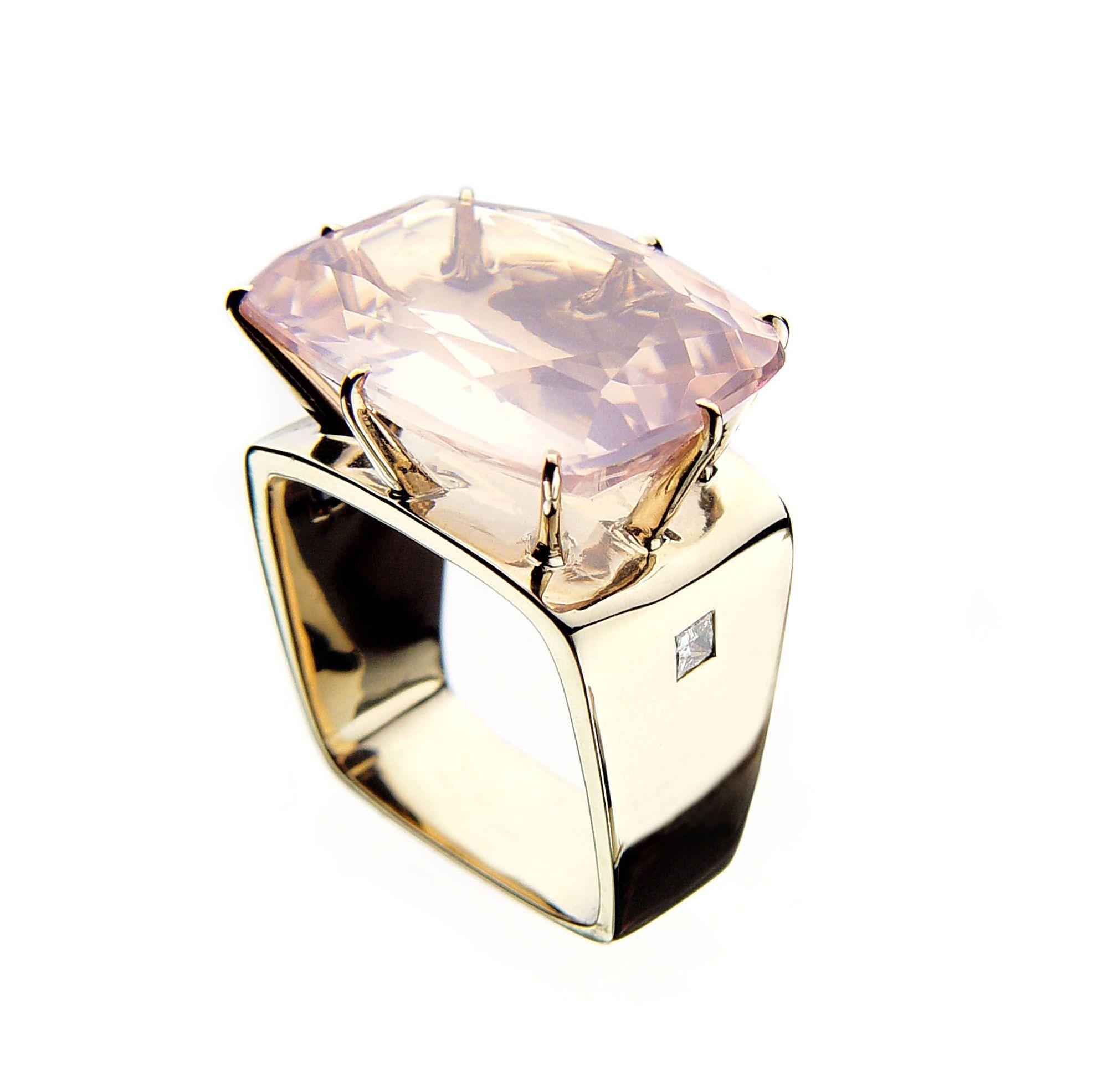 H stern sunrise ring anillo de amatista variedad transparente