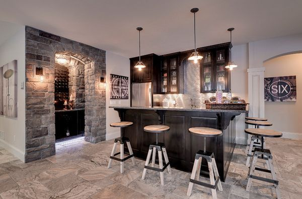 Charming Basement Bar   Forthehome | Bar For The Interior Of The House | Pinterest |  Basements, Bar And Men Cave