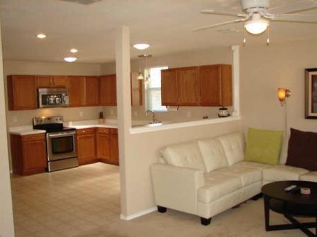 amusing living room half wall | half wall visual, simple trim | Half wall kitchen, Half ...