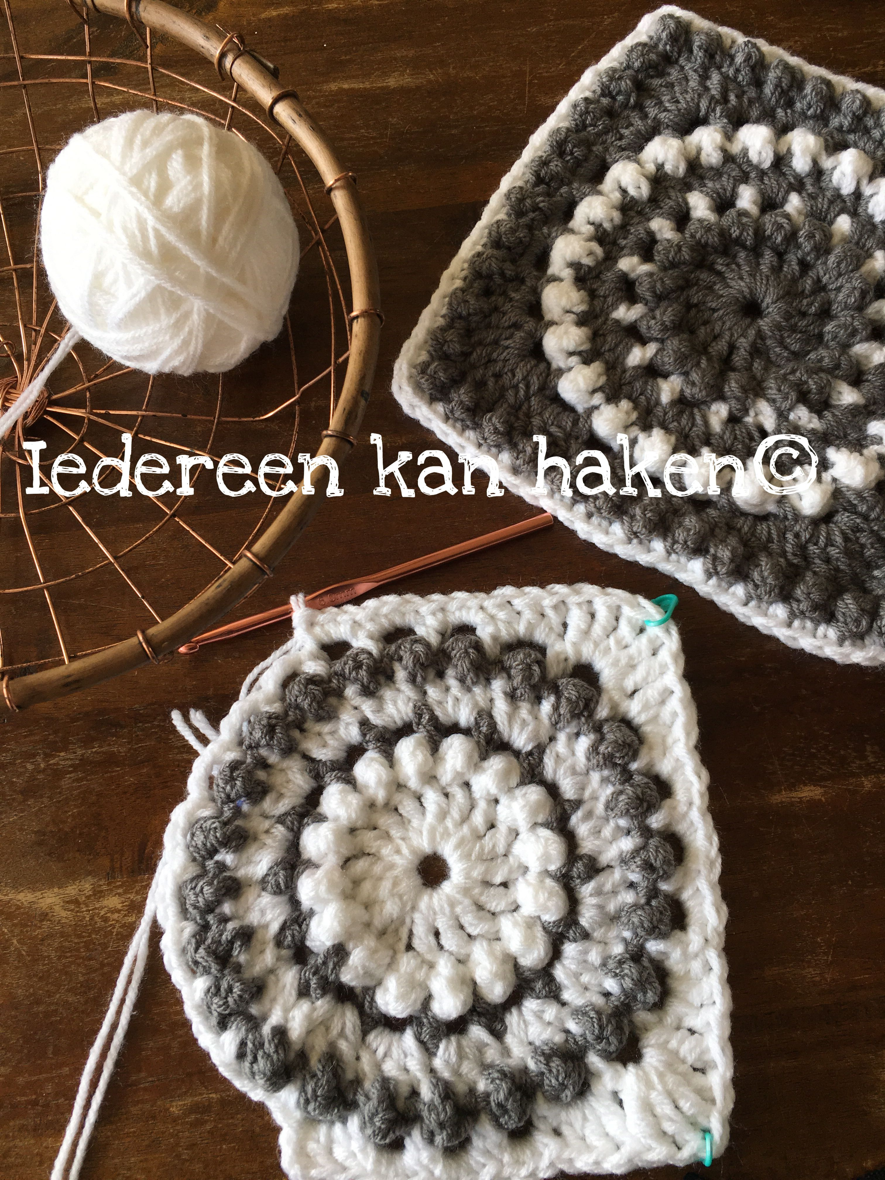 Iedereen Kan Haken Granny Square Circle Of Friends Iedereen Kan