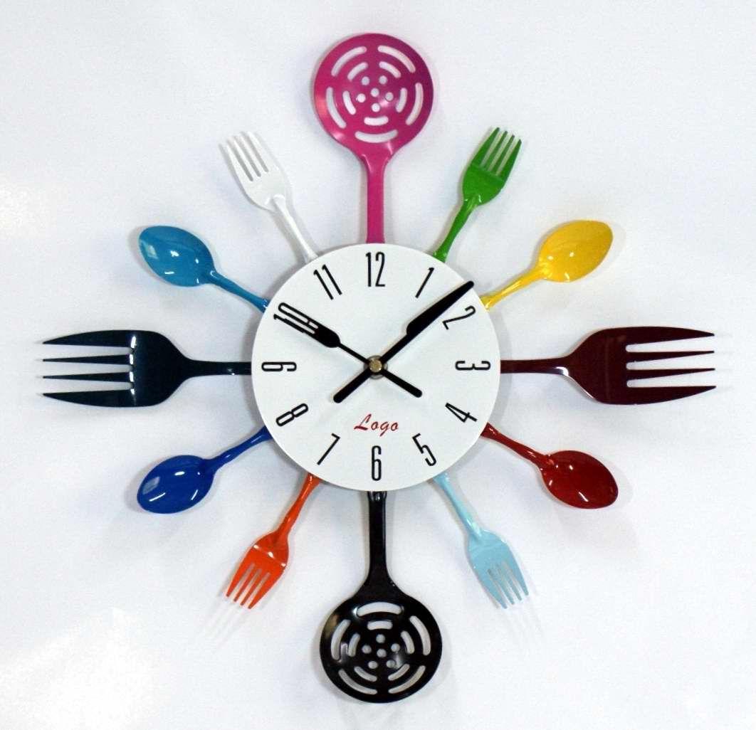 Horloge couverts id ale pour la cuisine pour la maison pinterest decoration couvert et for Horloge couvert