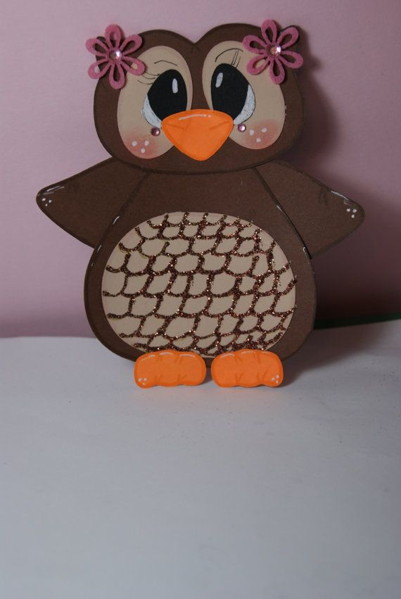 Handmade Owl Paper Piecing for Scrapbook die cut by craftiechicks, $5.00