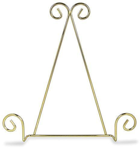 Single Tier Brass Metal Wire Wall Hanging Plate Rack Holder Stand with Swirling Spiral Scroll Design For Plates 8 to 10 Inch  sc 1 st  Pinterest : metal plate holder stand - pezcame.com