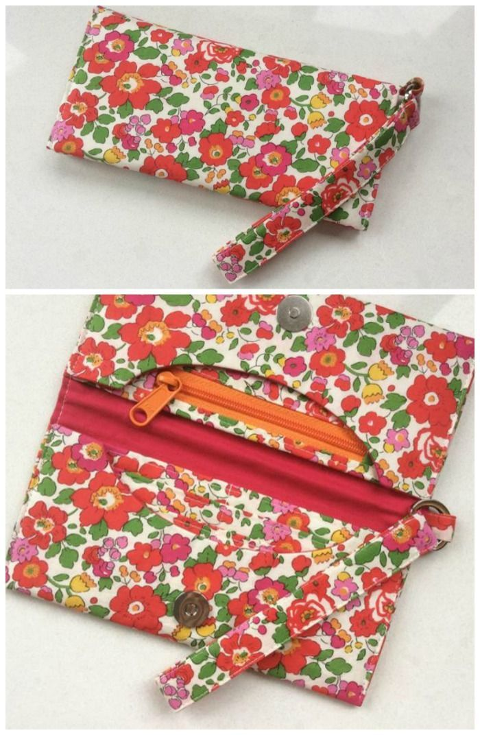 How to sew wallets, Step by Step. One of the 3 wallets available in ...