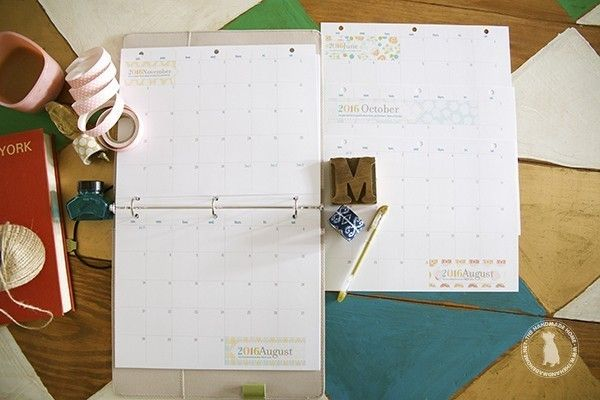 free planner 2016 - the handmade home