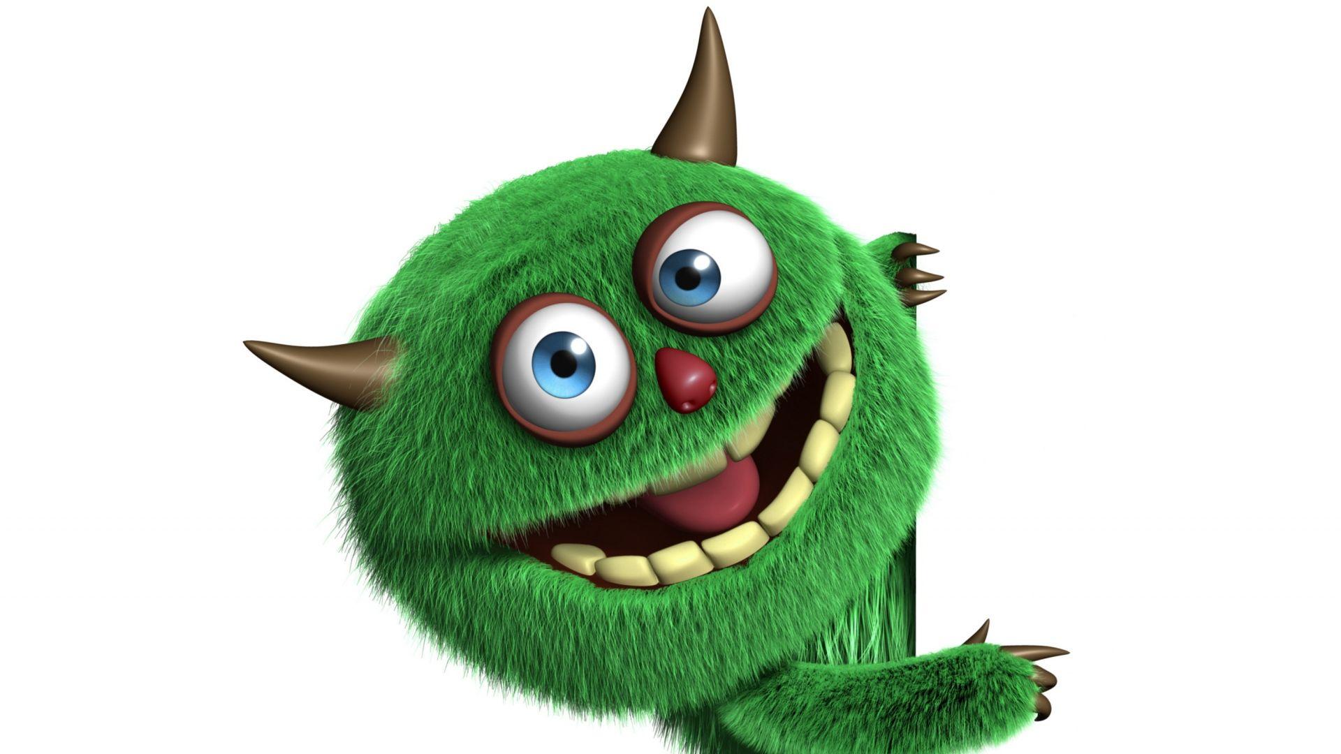 latest 3d monster cute funny furry wallpaper image wallpaper   3d