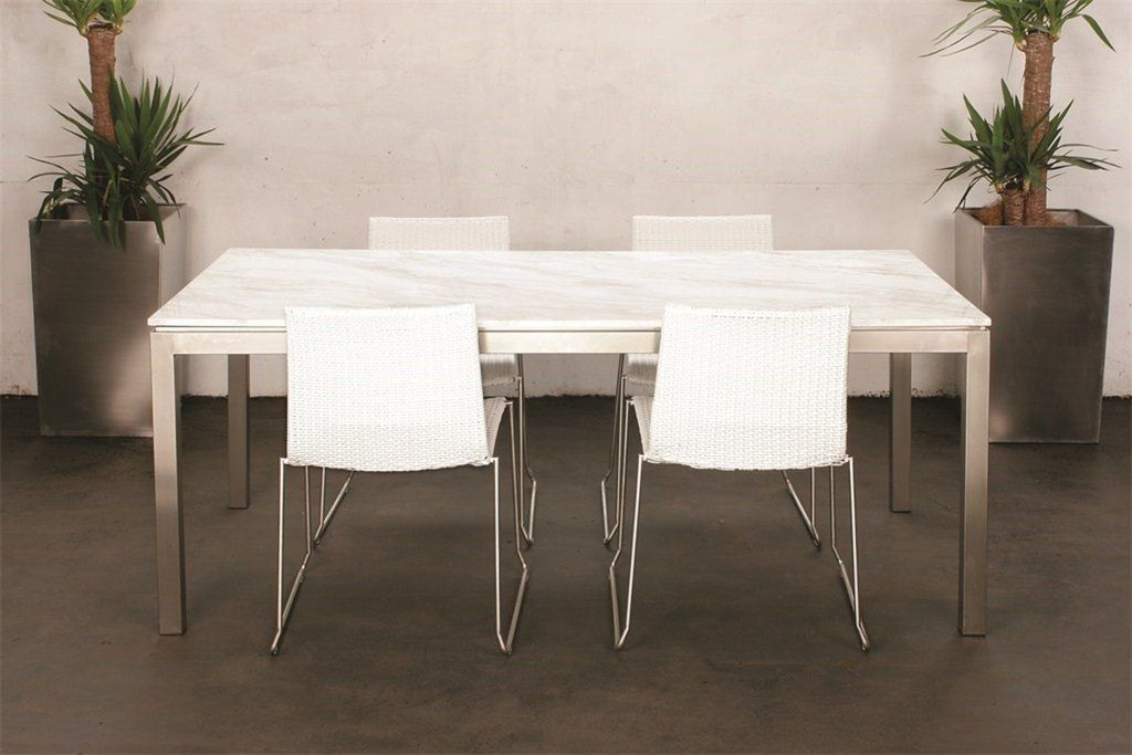 Lilia Dining Table White Marble Rectangular Or Round