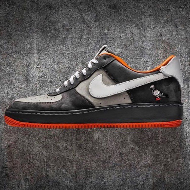 "118a1044ef8 The ""Pigeon"" Air Force 1 by  theshoesurgeon is NYC in a 👟 Who would cop  this iconic New York City custom   FlockWithUs"