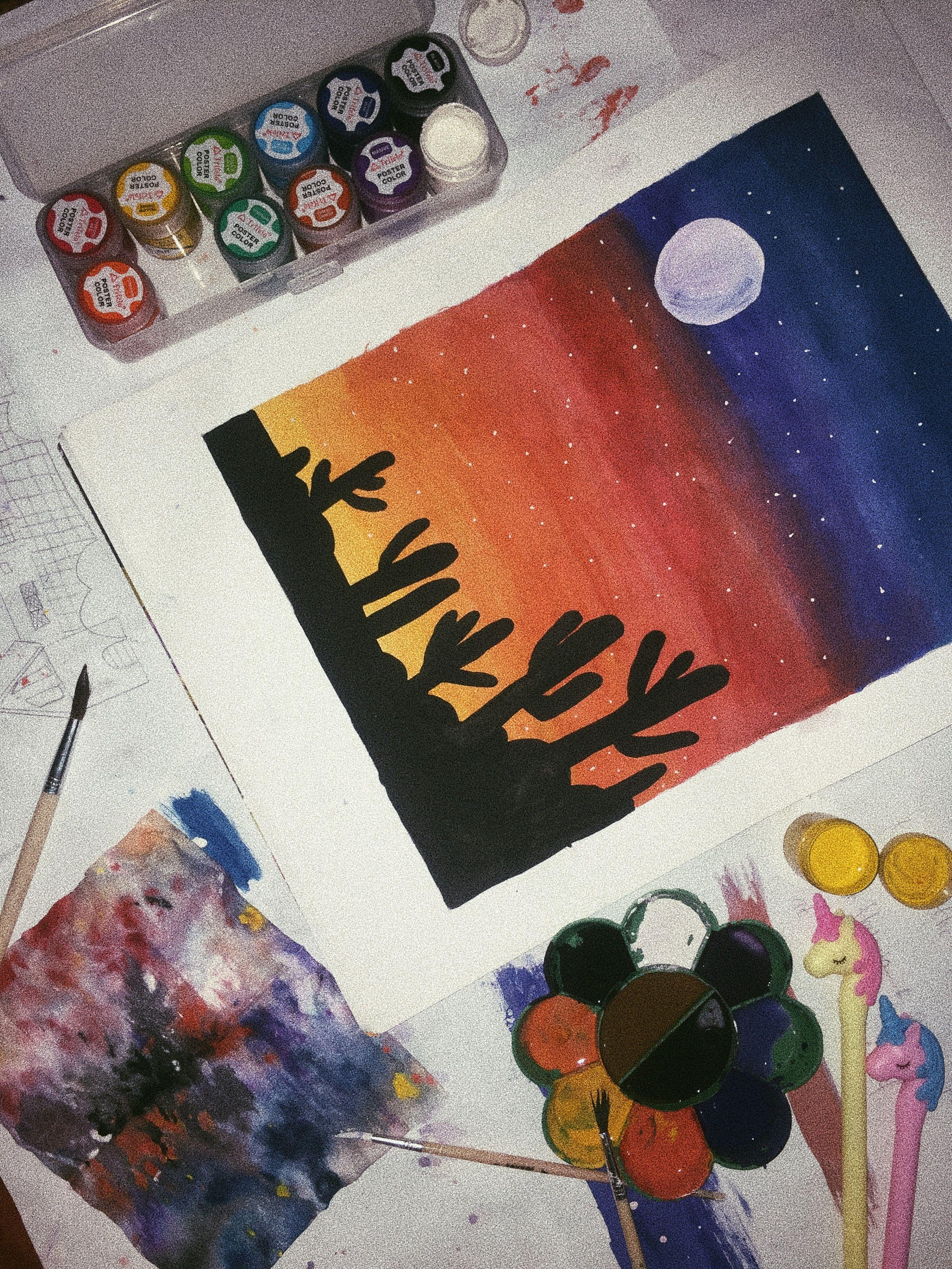 Pin Oleh Vidiya Hanum Di Lukisan Seni Lukisan Kanvas Lukisan