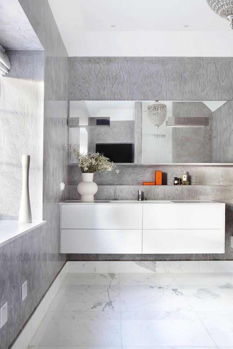 Salle de bain béton ciré –tendance pour donner nouveau look à l\'espace