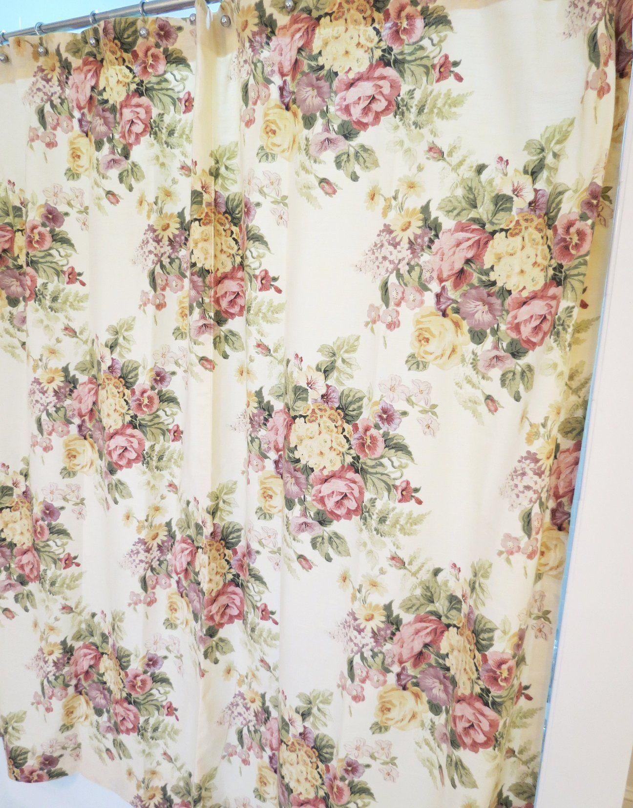 Vintage Shower Curtain Shabby Chic