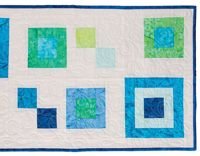 Modern Oval Loop Table Runner from Learn Edge-to-Edge Quilting ... : learn how to quilt online - Adamdwight.com