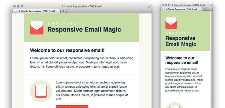 Simple Responsive HTML Email free predesigned | email templates ...