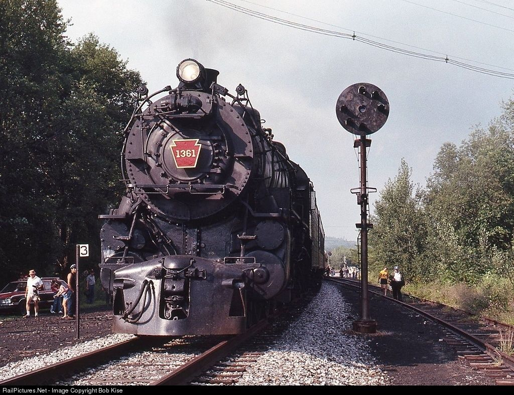Net Photo: PRR 1361 Pennsylvania Railroad Steam 4-6-2 at Tyrone,  Pennsylvania by Bob Kise