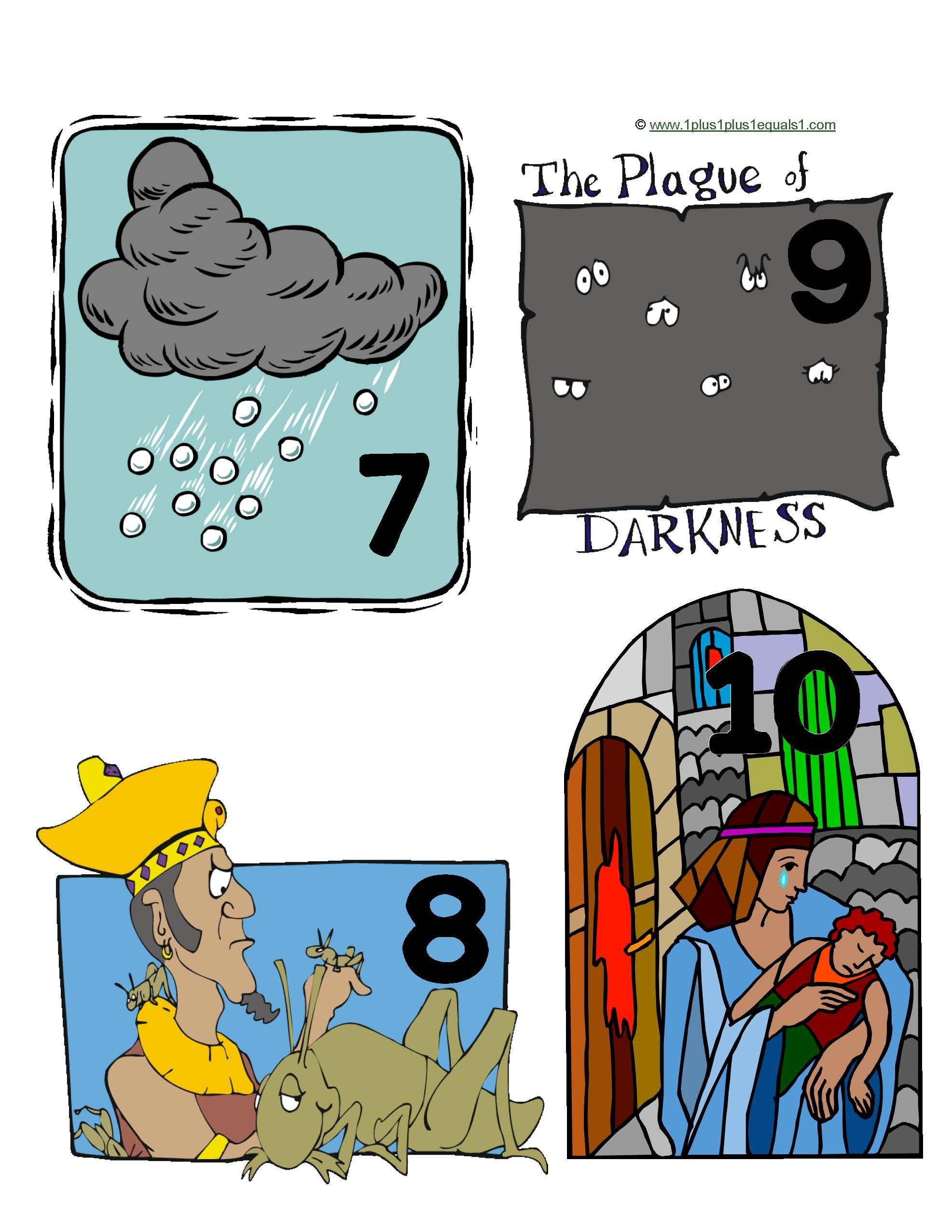 Plagas 8-10 | Sunday School | Pinterest