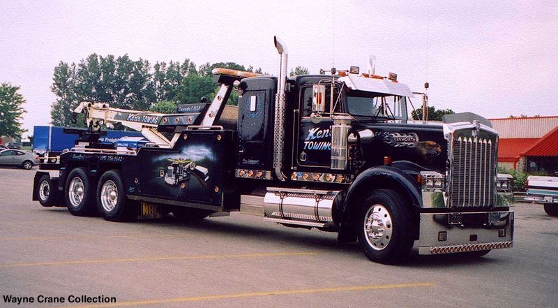 kenworth w 900b wrecker from ken 39 s towing of brantford ontario big rig wreckers pinterest. Black Bedroom Furniture Sets. Home Design Ideas