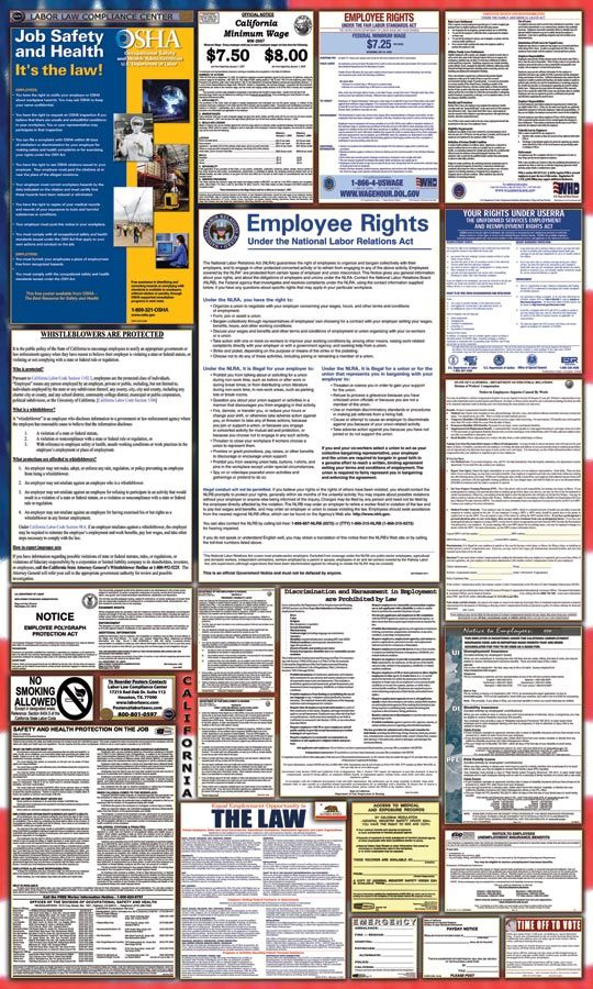 Federal  State Labor Law Poster Store  California Labor Law