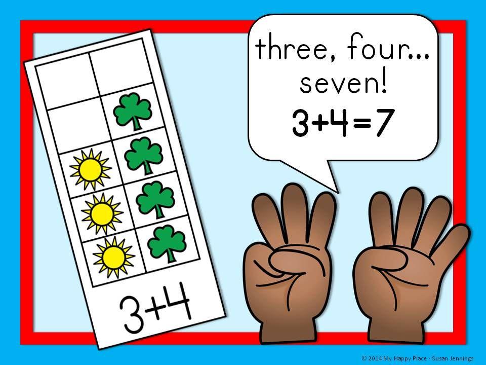 Spring Math - Ten Frames Subitizing Activities | Frames, Spring ...