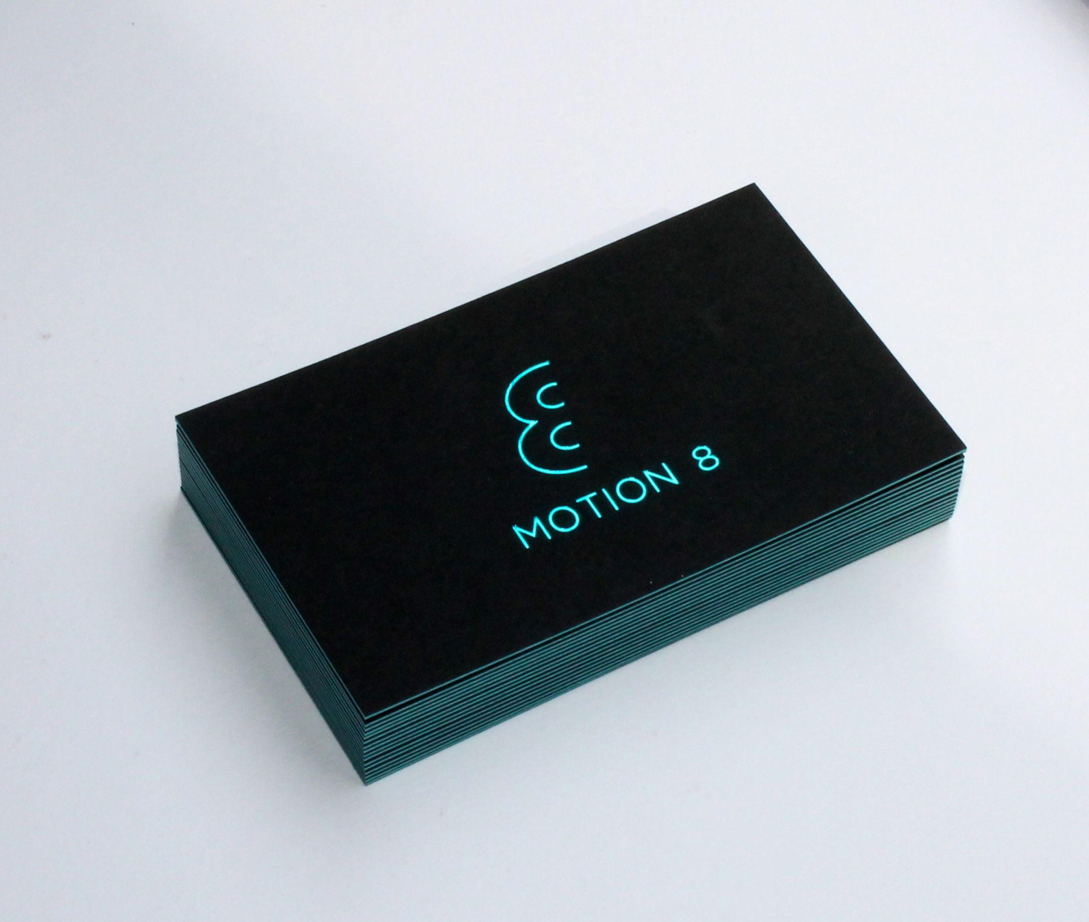 Metallic Blue Foil To Triplex Colorplan Business Card Black 270gsm Turquoise 270gsm Business Card Design Black Luxury Business Cards Printing Business Cards