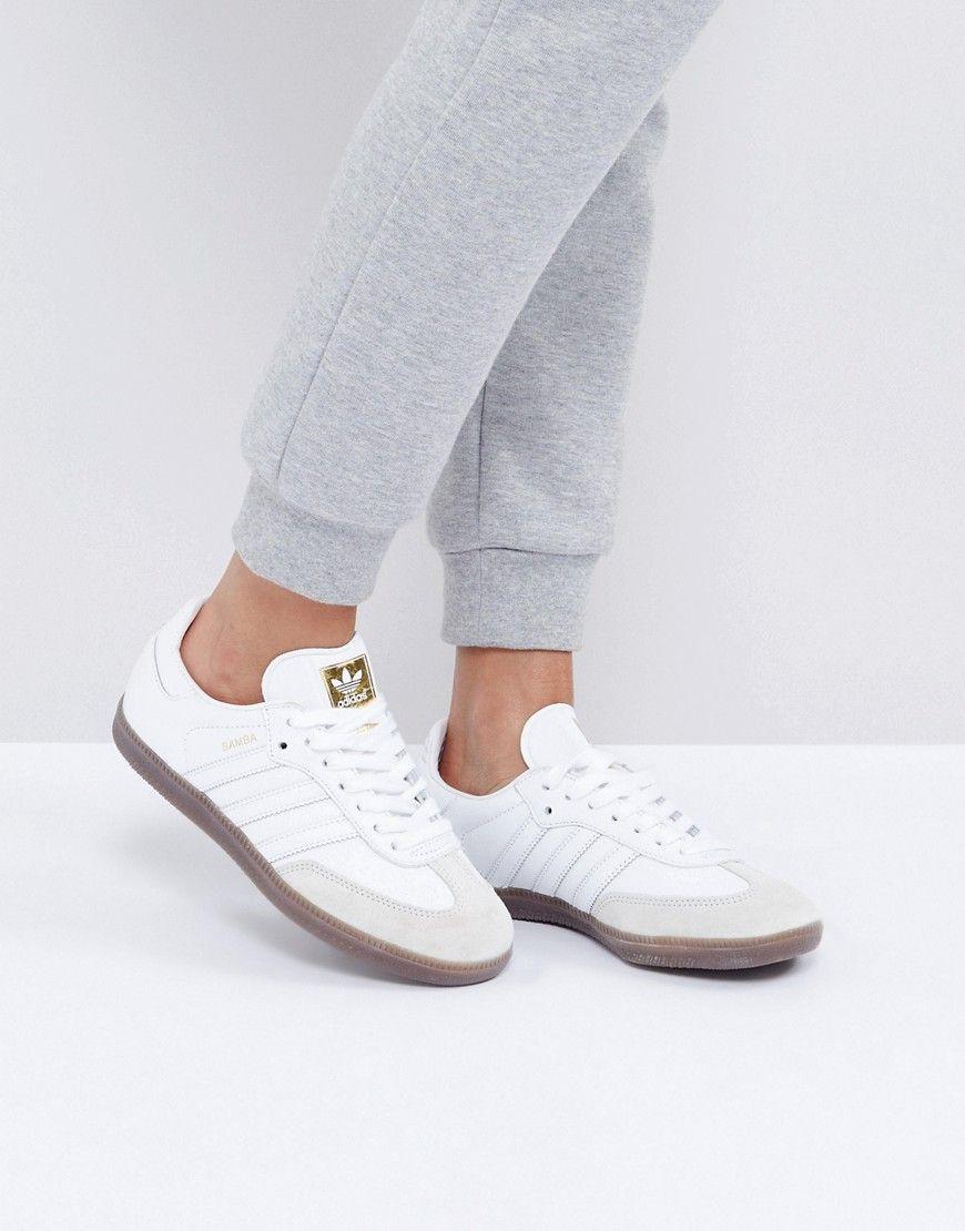 Adidas Originals White Samba Og Sneakers - White ...
