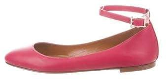 Valentino Leather Ankle-Strap Ballet Flats – Shoes – VAL117702 | The RealReal