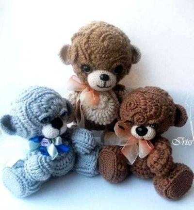 Crochet Teddy Bear Pattern for Fifi