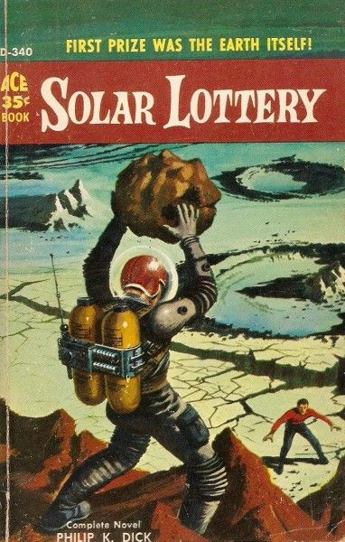 Solar Lottery (1959) by Philip K. Dick. Cover by Ed Valigursky.