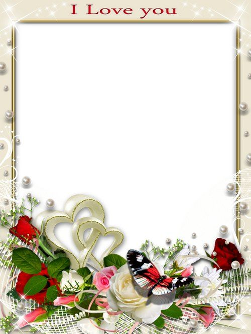 Romantic frame psd for photo - Love ( free photo frame psd, free ...