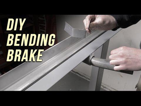 How To Home Made Sheet Metal Brake Built On A Budget Youtube Sheet Metal Brake Metal Bending Sheet Metal
