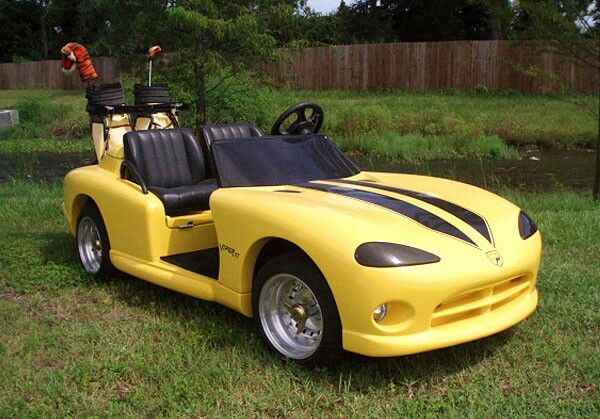 Tricked out viper golf cart